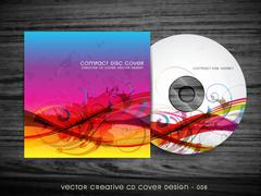 abstract cd cover design - stock illustration