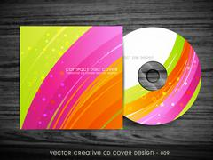 beautiful cd cover design - stock illustration