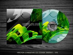 Stock Illustration of wave style cd cover
