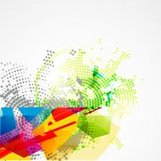 creative abstract art - stock illustration