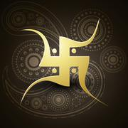 swastik symbol - stock illustration