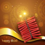 artistic diwali crackers - stock illustration