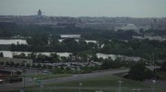 Fast motion traffic in Washington DC Stock Footage