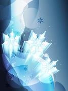 snow flake - stock illustration