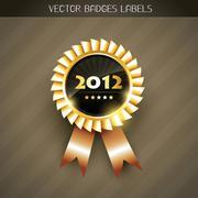 2012 label - stock illustration