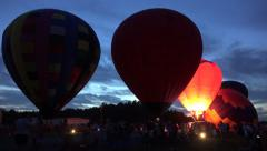 Hot Air Balloons At Night Glow Event 06 Arkistovideo