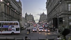 Edinburgh traffic time lapse Stock Footage