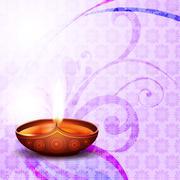 diwali festival diya - stock illustration
