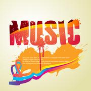 abstract music style vector - stock illustration
