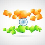 Stock Illustration of artistic indian flag