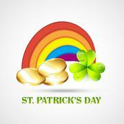 saint patricks day illustration - stock illustration