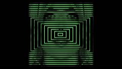Square Tunnel Woman Face  Green - stock footage