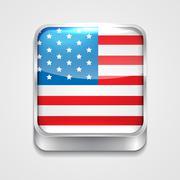 Flag of united state Stock Illustration