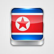 Stock Illustration of flag of north korea