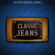 classic jeans label - stock illustration