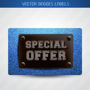 jeans special offer label - stock illustration