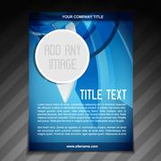 advertise flyer brochure template - stock illustration