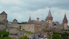 Kamyanets-Podilsky fortress time lapse Stock Footage