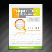company brochure template - stock illustration