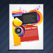 music party template design - stock illustration