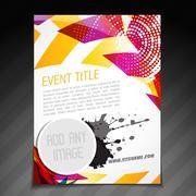 Stock Illustration of event poster design