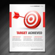 achievement  flyer poster template design - stock illustration