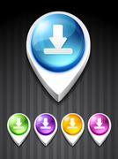 download icon - stock illustration