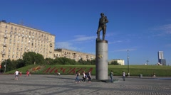 Monument to the Heroes of WWI in Park Pobedy, Moscow, Russia. Stock Footage
