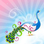 Stock Illustration of artistic vector peacock