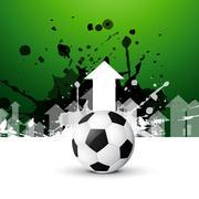 Stylish football background Stock Illustration