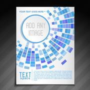 Stylish mosaic brochure Stock Illustration