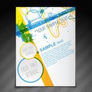 beautiful brochure template - stock illustration