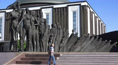 The Holocaust Memorial (in 4k) in Park Pobedy, Moscow, Russia. Stock Footage