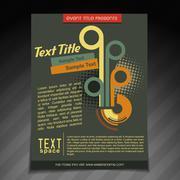 Stylish retro brochure design Stock Illustration