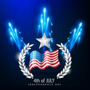 4th of july independence day Stock Illustration