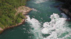 Over the Niagara River Gorge Stock Footage