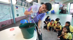 students are learning Science. in Activity science Day. - stock footage