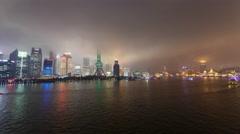 4K Stormy Shanghai Stock Footage
