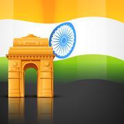 india gate - stock illustration