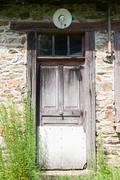 Door Inhabitable house - stock photo
