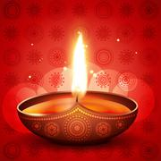 Diwali festival diya Stock Illustration