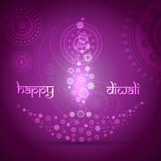 artistic diwali background - stock illustration