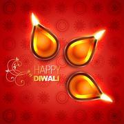 Stock Illustration of beautiful vector diwali diya