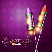diwali festival cracker - stock illustration