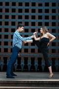 Passionate and hot dance couple people. Stock Photos
