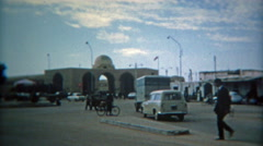 1972: Tunis ancient city scenes marketplace hustle and bustle. - stock footage