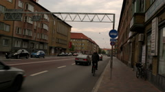 Streets of Malmo Stock Footage