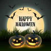 scary halloween design - stock illustration