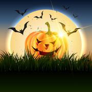 beautiful vector halloween design - stock illustration