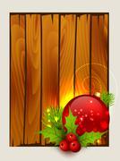 Stylish merry christmas background Stock Illustration